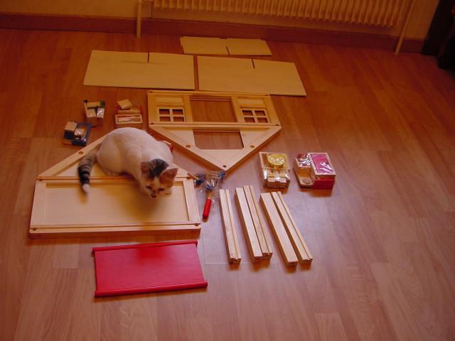 petite maison de poup es en kit loisirs passions chez jo. Black Bedroom Furniture Sets. Home Design Ideas
