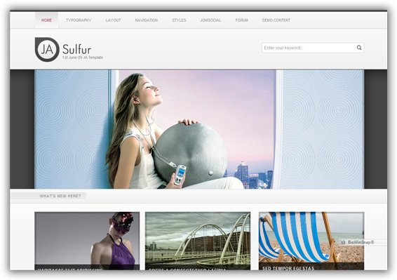 JA Sulfur 1st June 09 Joomla Template