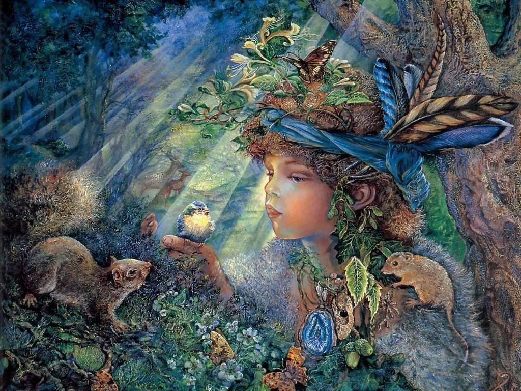 beau-fond-d-ecran-enfant-animaux-nature-flora