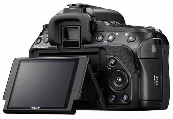 Face arrière du nouveau Sony Alpha 500