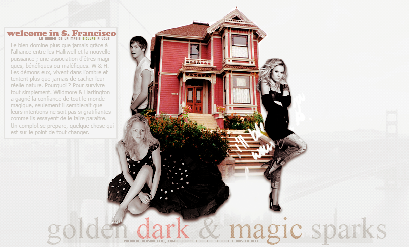 Charmed : Golden dark & magic sparks