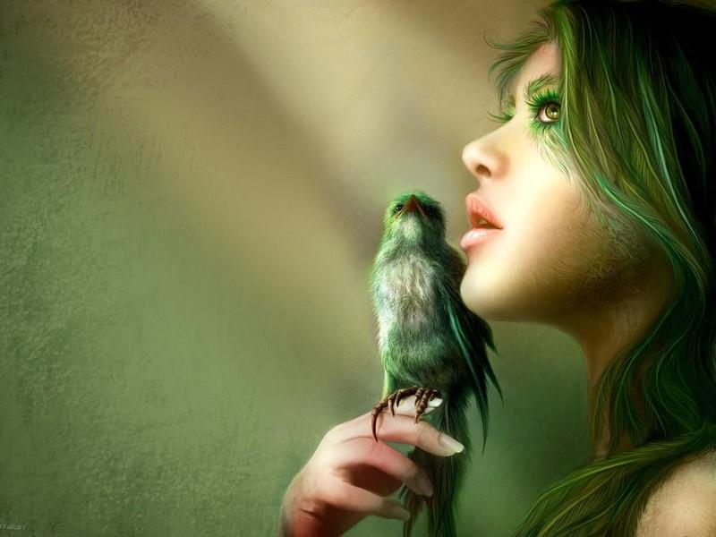 belle-image-de-femme-oiseau-flora